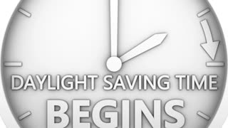 time change to daylight saving time on white background. 3d render.