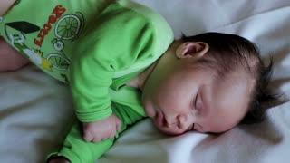 Quietly sleeping child