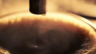 Coffee machine making espresso coffee