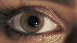 Woman`s eye. Macro