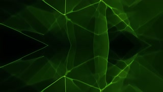 Abstract 3D Line Green Loop