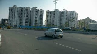 Street Vehicle In Road