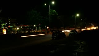 Time Lapse - Highway Traffic Rush - Night
