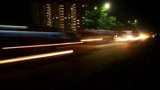 Time Lapse - Modern City Traffic At Night