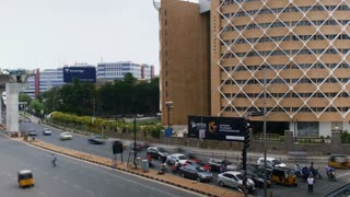 Timelapse Of City Traffic At Hitec City In Hyderabad