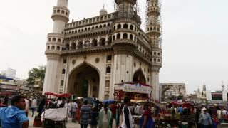 Timelapse Of People At Charminar Hyderabad