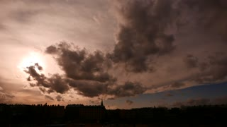 Dark lighting dramatic sky timelapse
