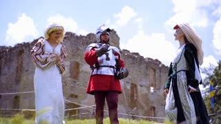 Medieval knight, princess and queen. The history of medieval life