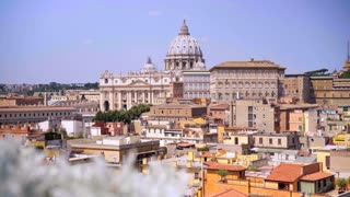 Vatican city. Rome skyline at the city center with panoramic view of famous landmark of Ancient Rome architecture and Italian culture and monuments. Italy