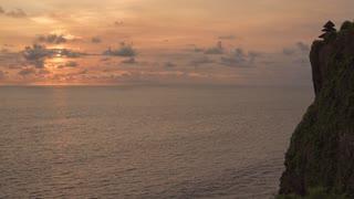 Bali Indonesia Uluwatu Temple Cliff Beach Ocean Sunset Time Lapse Mp 4