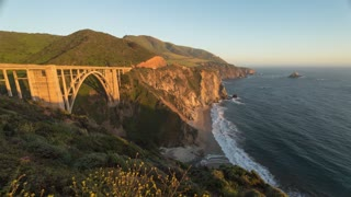 Big Sur Bixby Creek Bridge Day To Night Time Lapse