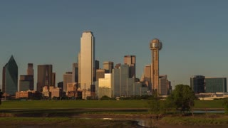 Dallas Downtown Day To Night Time Lapse