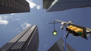 Dallas Downtown Traffic Light Buildings