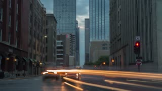 Dallas Downtown Traffic Lights Time Lapse