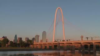 Dallas Margaret Hunt Hill Bridge Day To Night Time Lapse