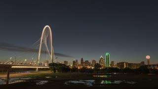 Dallas Margaret Hunt Hill Bridge Night To Day Time Lapse