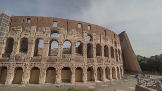 Italy Rome Colosseum Day Time Hyper Lapse