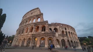 Italy Rome Colosseum Sunset Time Lapse