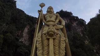 Kuala Lumpur Malaysia Batu Caves Hindu Lord Murugan Statue Time Lapse