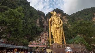Kuala Lumpur Malaysia Batu Caves Thaipusam Festival Time Lapse