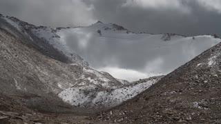 Ladakh India Himalaya Mountain Chang La Mountain Pass Clouds Time Lapse 02