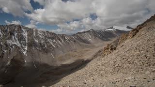 Ladakh India Himalaya Mountain Khardung La Mountain Pass Clouds Time Lapse