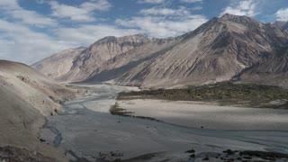 Ladakh India Himalaya Mountain Nubra Valley Shyok River Time Lapse