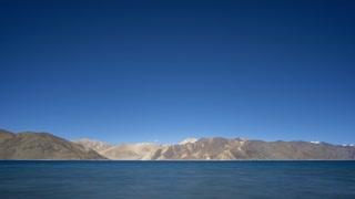 Ladakh India Himalaya Mountain Tibetan Pangong Lake Moving Shadow Sunset Time Lapse