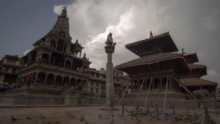 Lalitpur Nepal Patan Durbar Square Ancient Royal Palace Time Lapse