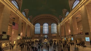 Manhattan Grand Central Station Int Time Lapse