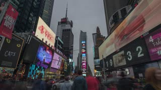 Manhattan Times Square Time Lapse