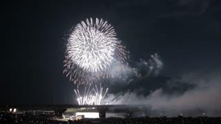 Most Beautiful Fireworks Display Celebration New Year Nagaoka Hanabi Japan 01