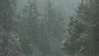 Mount Evans Colorado Driving In The Winter Snow 11 Slow Motion