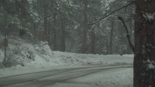 Mount Evans Colorado Driving In The Winter Snow 13 Slow Motion