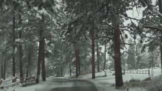 Mount Evans Colorado Driving In The Winter Snow 14 Slow Motion