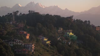 Nagarkot Nepal Himalaya Mountain Morning Clouds Time Lapse