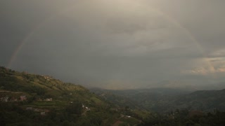 Nagarkot Nepal Himalaya Mountain Rainbow Sunset Time Lapse