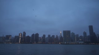 New York City Manhattan Skyline Cityscape Cloudy Morning