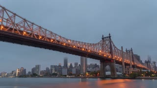New York City Queensbridge Park Cloudy Morning Time Lapse
