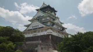 Osaka Japan Osaka Castle Day Time Lapse