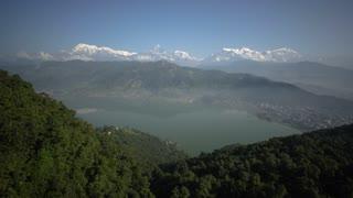 Phokara Nepal Himalaya Mountain Phewa Lake Morning Time Lapse