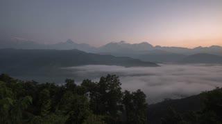 Phokara Nepal Himalaya Mountain Phewa Lake Sunrise Time Lapse