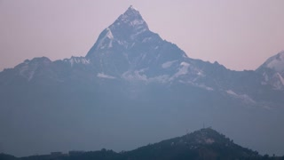 Pokhara Nepal Himalaya Mountain Machapuchare Fish Tail Sunrise Time Lapse