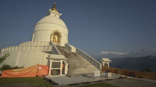 Pokhara Nepal Himalaya Mountain World Peace Pagoda Morning Time Lapse