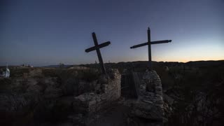Terlingua Ghost Town Cemetary Starry Night Time Lapse
