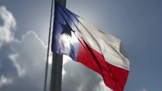 Texas Flag At Fair Park Dallas In Slow Motion
