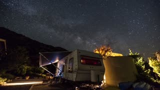 Three Rivers Milky Way Over An Rv