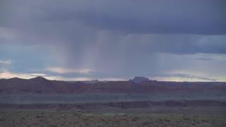 Utah Scenic Drive 02 Rain Falling In The Distance