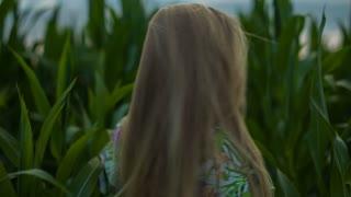 Beautiful Girl in the Foliage