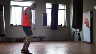 Boxer is Jumping Rope